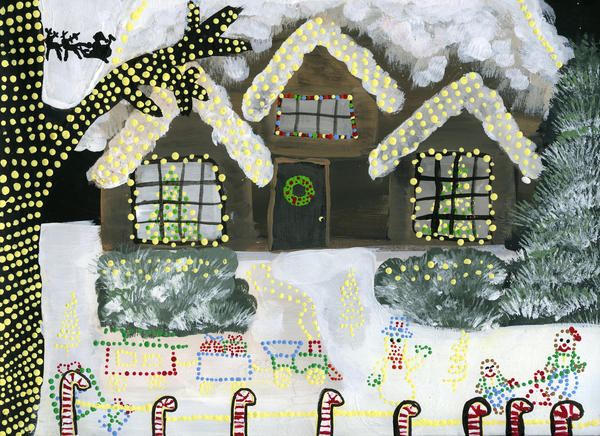 Kayla Martinek, 8 a third grader at Ocoee Elementary School is a Merit winner in the Second & Third Grades category of the 2012 Holiday Art Contest.