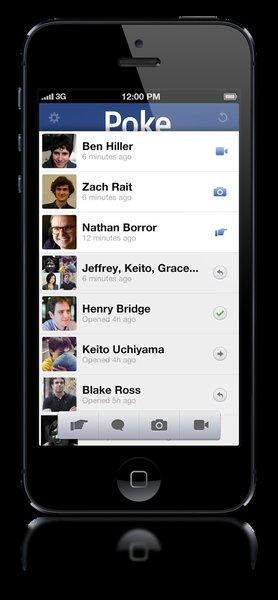 Facebook's new iPhone app Poke enables users to send texts, photos and videos that self-destruct within 10 seconds.