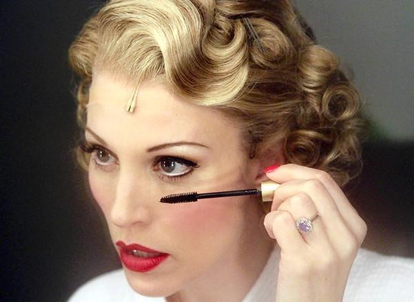 "Rachel York applies makeup backstage for the evening's performnce of ""Anything Goes"" on Dec. 16, 2012."