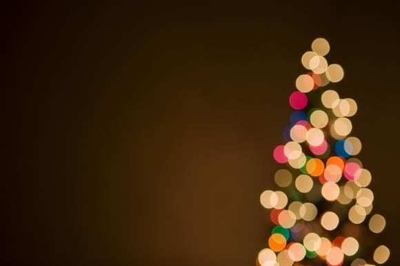 Christmas tree lights, out of focus