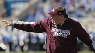 "Mississippi State coach Dan Mullen joined Pat Fitzgerald at Wrigley Field in 2010 when the Northwestern coach guest-conducted ""Take Me Out to the Ball Game."""