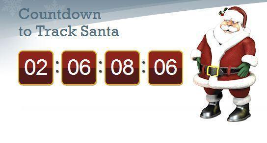A screen grab from NORAD's Santa tracker website, taken Friday evening.