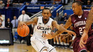 A steal by Enosch Wolf, a pass ahead to Ryan Boatright, who dished up behind his back to Omar Calhoun for a layup — this was UConn's brand of basketball for much of Friday night.