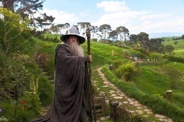 "Ian McKellen stars as Gandalf in ""The Hobbit: An Unexpected Journey,"" one of the holiday films with a running time of well over two hours."