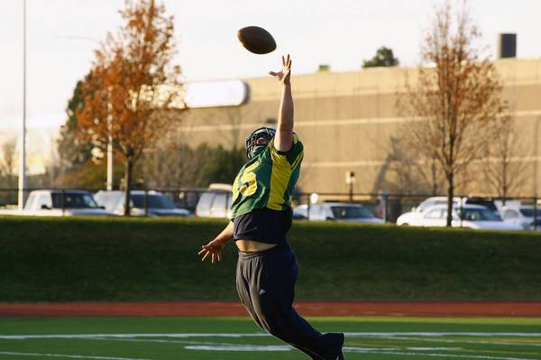 The COD football team, a member of which is shown here at practice this fall, is expected to move forward with at least two more seasons.