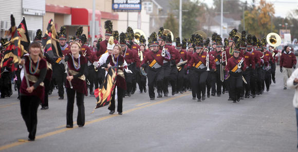 NSU's Marching Wolves boogie in Aberdeen