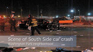 Raw Video: Scene of South Side car crash