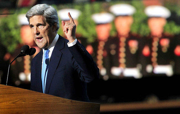 Sen. John F. Kerry speaks at the Democratic National Convention.