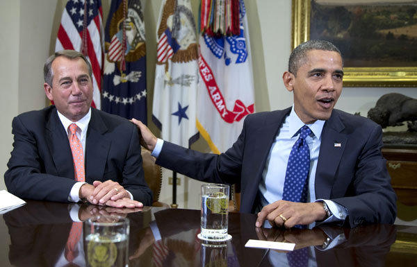 "House Speaker John Boehner and President Barack Obama have yet to reach a deal on the ""fiscal cliff."""
