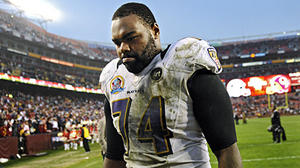 As offensive line struggles, what does the future hold for Michael Oher?