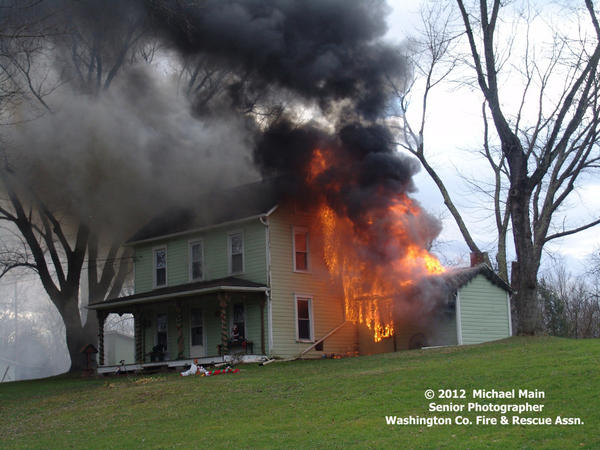 Several local emergency crews responded Saturday to a house fire at 11183 Big Pool Road.