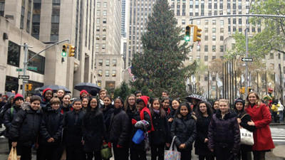 Somerset native Jeanne Cascio directed her choir from Mark Twain Intermediate School in New York as they performed for NBC's TODAY show on Sunday. This choir was chosen as an example of resilience after Hurricane Sandy. The performance will be broadcast between 7 a.m. and 8 a.m. on Christmas day.