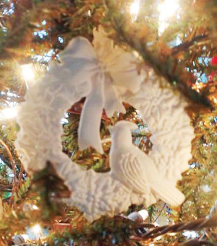 To choose a favorite ornament is very difficult for me because my 90-year young grandmother makes handmade Christmas ornaments and, needless to say, my Christmas tree is filled with very special ornaments that she has made over the years.