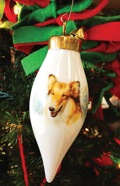 My favorite Christmas ornament is one of my collie, Angel, who passed away at age 11 last January. Every Christmas we hung her stocking by the fireplace and her ornament on the Christmas tree. Everyone who met Angel loved her sweet, gentle nature.  She was my best friend and I still miss her so much. This is our first Christmas without her, but her memory is alive on our Christmas tree and in our hearts. She looked just like Lassie. ¿ By Fran Smith, Smithsburg