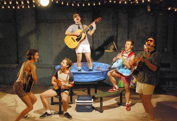 "Ryan Bourque, Shawn Pfautsch, Zeke Sulkes, Doug Pawlik and Matt Kahler in ""The Pirates of Penzance."""