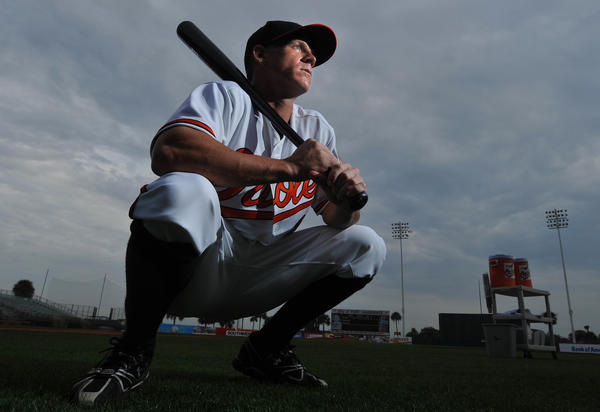 Ryan Freel at Orioles Spring Training camp in 2009.
