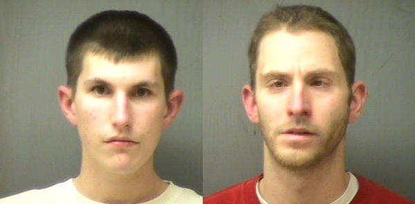 The two men were arrested in Norwich on Saturday.