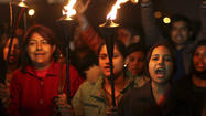 Indian protesters clash with police over rape case