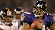 <strong>Dec. 28, 2003:</strong> The Ravens (10-6) win their first division title, turning back the visiting Pittsburgh Steelers, 13-10 in overtime. Jamal Lewis rushes for 114 yards and a touchdown to become the fifth player in NFL history to rush for more than 2,000 yards in a season.