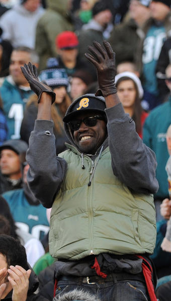 Fans enjoy the action during the Eagles vs Redskins game at Lincoln Financial Field on Sunday.