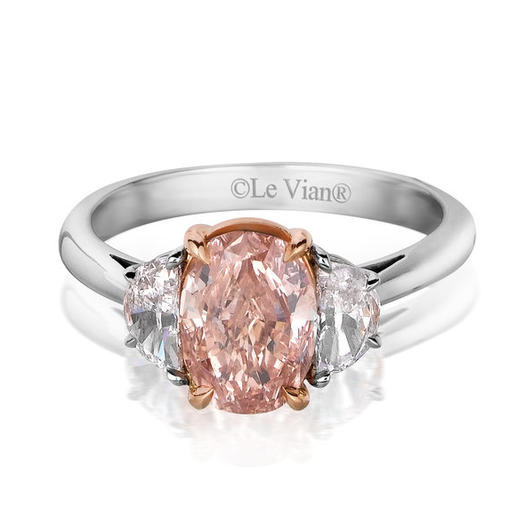 Colored stones are a growing trend. (Le Vian pink diamond, $212,500)