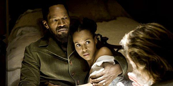 "Jamie Foxx and Kerry Washington star in ""Django Unchained."""