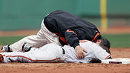 The final image of Ryan Freel's time with the Orioles was one of potential tragedy: Freel remaining motionless on the Fenway Park basepaths after being hit in the right side of the head by an errant Justin Masterson pickoff throw during a game on April 20, 2009.