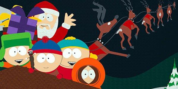 "Santa visits the ""South Park"" gang."