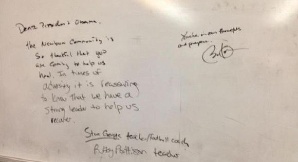 Newtown Football Coach's Whiteboard