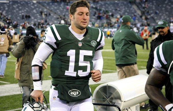 Jets reserve quarterback Tim Tebow did not play against the San Diego Chargers on Sunday.