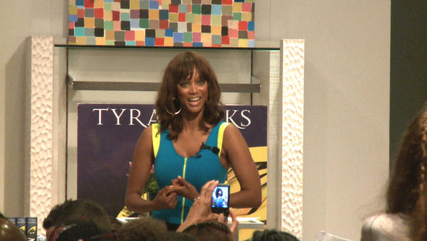 Tyra Banks at Neiman Marcus in Bal Harbour last year on a book tour for her young adult fantasy novel Modelland.