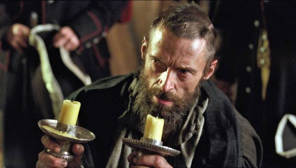 "Hugh Jackman stars as Jean Valjean in the movie ""Les Miserables."""