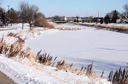 A view of Moccasin Creek near the Aberdeen Area Senior Center