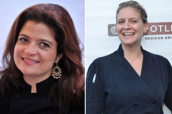 """Next Iron Chef"" competitors Alex Guarnaschelli, left, and Amanda Freitag went head-to-head in the show's finale."