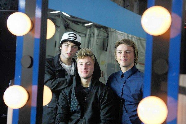 The boy band Emblem 3 on the CBS lot in Los Angeles: Wesley Stromberg, 20, left, Drew Chadwick, 20, and Keaton Stromberg, 16. They are all from Huntington Beach.