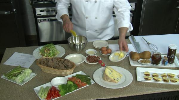 Chef Crispo makes Blue Cheese appetizers three different ways.