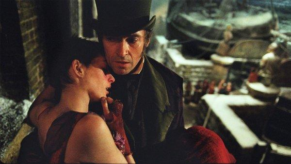 "Anne Hathaway and Hugh Jackman in the film adaption of ""Les Miserables."""