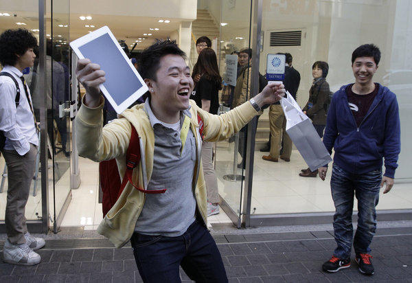 He was all smiles last year when he got his iPad 3. But rumors are that by this March, that device will be two generations behind.