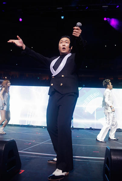 PSY performs at Q102's Jingle Ball 2012 presented by XFINITY at the Wells Fargo Center in Philadelphia on December 4.