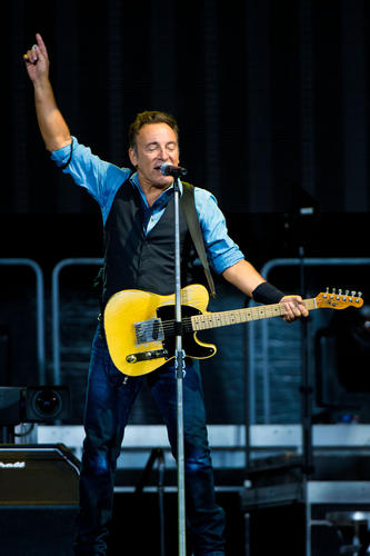 Bruce Springsteen And The E Street Band perform at Citizens Bank Park September 2, 2012 in Philadelphia, Pennsylvania.  With this concert, Bruce Springsteen and the E Street Band become the first act to perform in every major live music venue in Philadelphia.