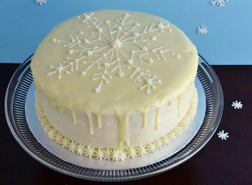 Festive lemon cake.