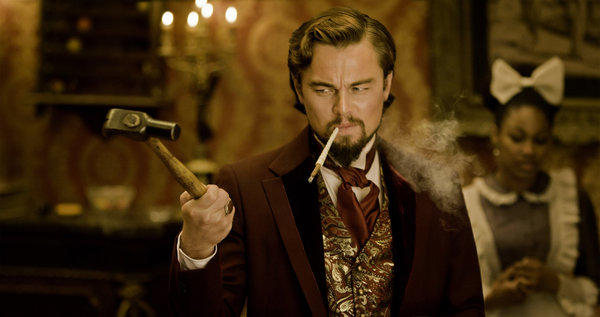 "Leonardo DiCaprio appears as Calvin Candle in ""Django Unchained,"" directed by Quentin Tarantino, and ready to storm the holiday box office."