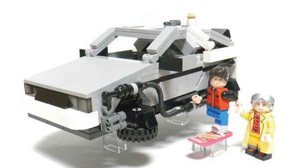 A prototype of the 'Back to the Future' Delorean Time Machine Lego set that Lego will put into production next year.
