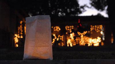 Luminarias light up a Holtville neighborhood with tradition