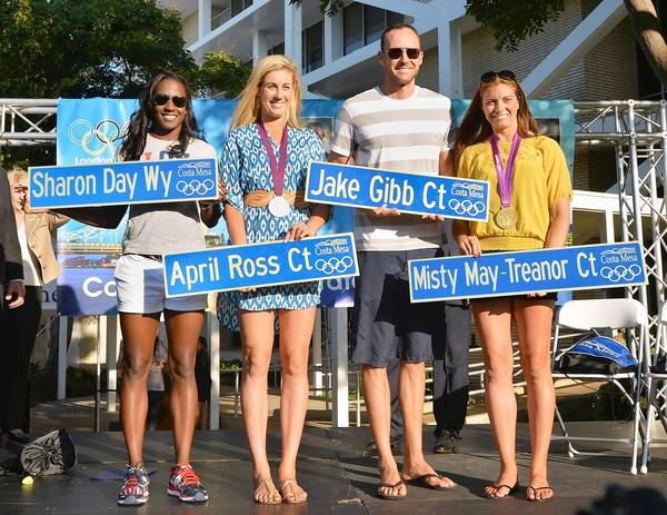 Olympians Sharon Day, April Ross, Jake Gibb and Misty May-Treanor, who were honoroed by the City of Costa Mesa in September, were just some of the local athletes who made the area proud with their performances in London.