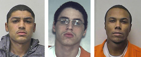 Devon Lee Frisby, Ashton Lee Frisby and Koreem Becton Hardison were charged with multiple burglary and theft charges.
