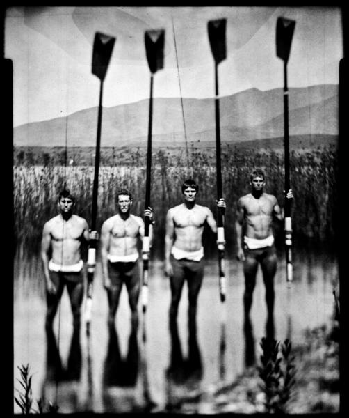 From left, Scott Gault, Charlie Cole, Henrik Rummel and Glenn Ochal won the bronze medal in Men's Four rowing at the London Olympics. Here they are practicing at Otay Lake at the U.S. Olympic Training Center in Chula Vista.
