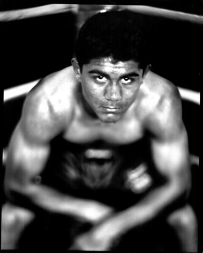 Joseph Diaz Jr. represented the U.S. in the bantamweight class (123 pounds) in the London Olympics. Here is in  training at the South El Monte boxing club. Diaz lost in a preliminary round at London to Cuban world champion Lazaro Alvarez, 21-15.