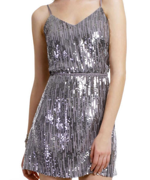 Twelfth Street by Cynthia Vincent metallic rain dress from RentTheRunway.com for $60.