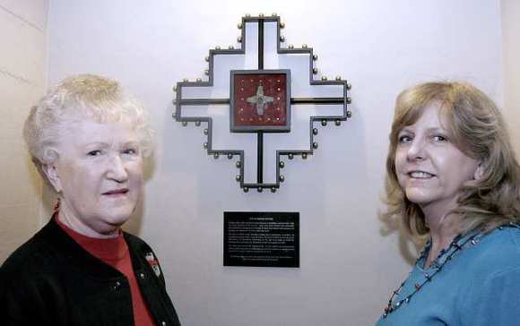A Byzantine-era cross is on display at St. Mark's Episcopal Church in Glendale on Saturday, December 22, 2012.